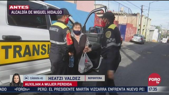 policias de la cdmx ayudan a mujer de la tercera edad a volver a su casa