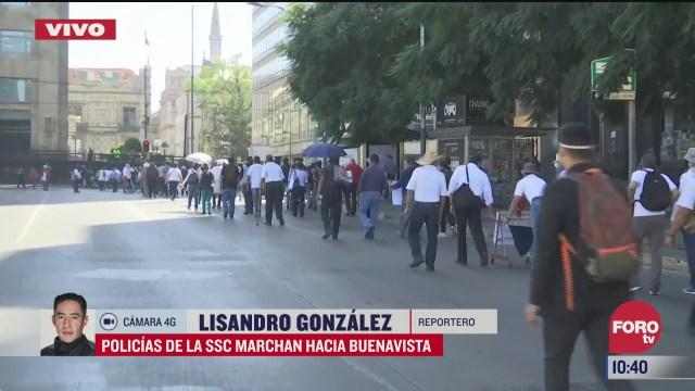 policias de la ssc cdmx marchan hacia buenavista