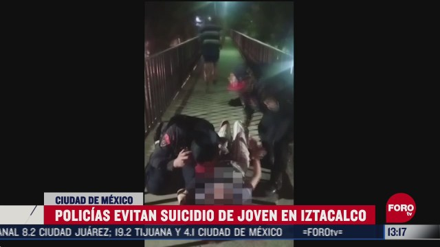 policias evitan suicidio en iztacalco