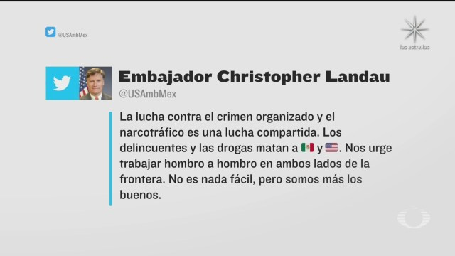Embajador de EU y políticos opinan sobre Salvador Cienfuegos