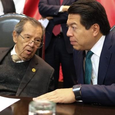 Porfirio Muñoz Ledo y Mario Delgado empatan en encuesta para dirigencia de Morena