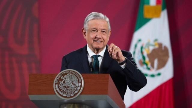 Presidente López Obrador en conferencia mañanera