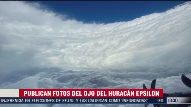 publican imagenes del ojo del huracan epsilon
