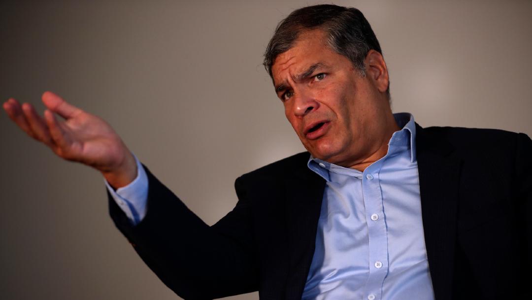 Fotografía que muestra al expresidente de Ecuador, Rafael Correa