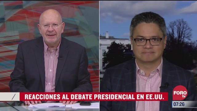reacciones al debate presidencial en estados unidos