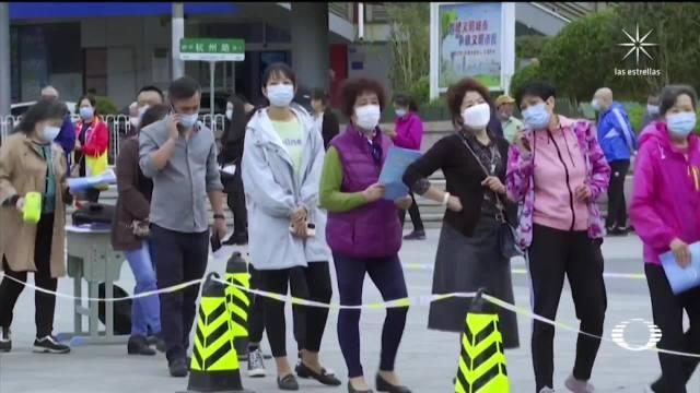 realizan pruebas masivas de covid 19 en qingdao china