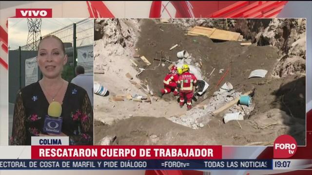 rescatan cuerpo de trabajador atrapado en pozo de colima