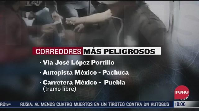 se incrementan asaltos al transporte publico en la via morelos en ecatepec