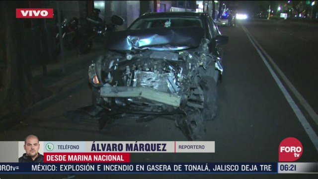 se registra aparatoso accidente en marina nacional