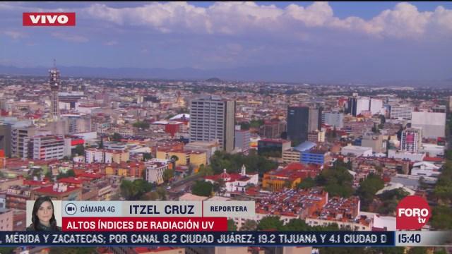 se registran altos indices de radiacion uv en la ciudad de mexico