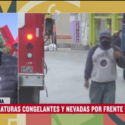 Se registran temperaturas congelantes y nevadas en Chihuahua