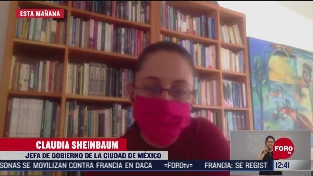 sheinbaum trabajara a distancia tras dar positivo a covid