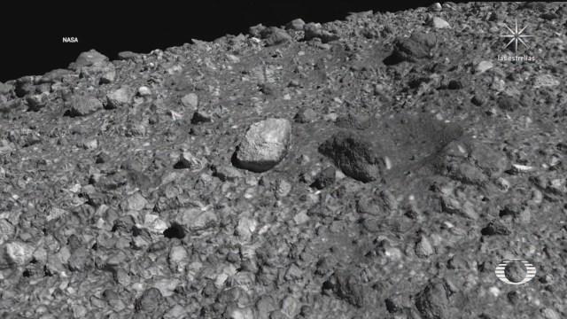sonda osiris rex recolecta muestras de polvo del asteroide bennu