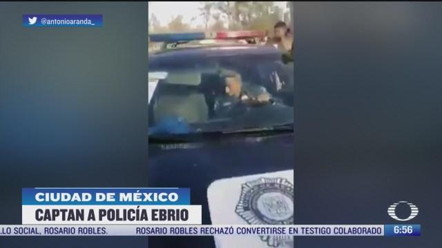 sorprenden a policia ebrio en la alcaldia xochimilco