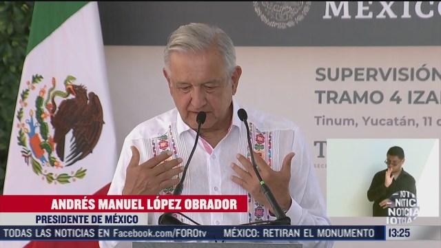 supervisa amlo obras del tramo cuatro del tren maya en yucatan