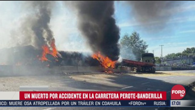 trailer se incendia en veracruz