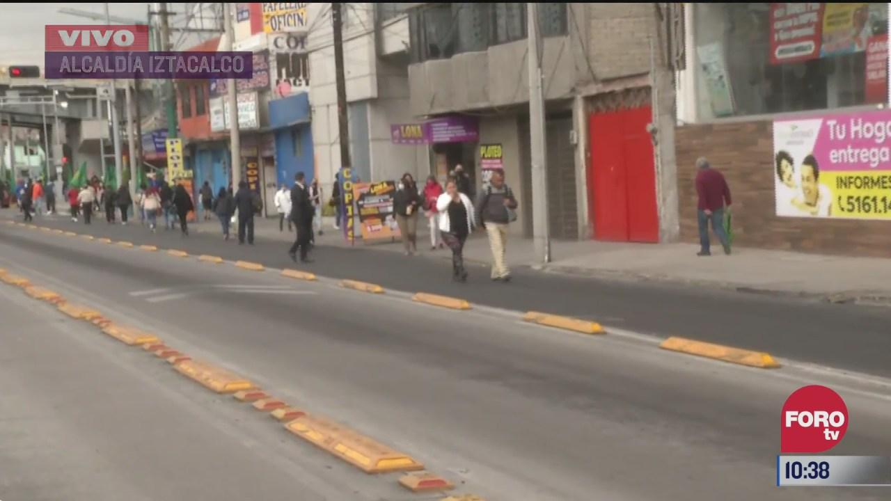 afectaciones en la linea 2 del metrobus por manifestantes