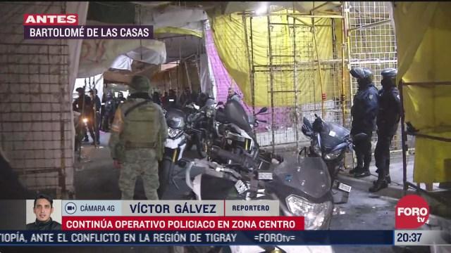 al menos cinco detenidos tras operativo en bartolome de las casas en el centro