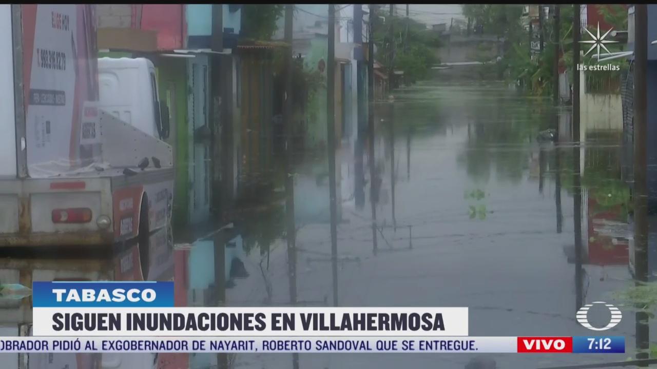 alerta en tabasco por nuevas lluvias en zonas inundadas