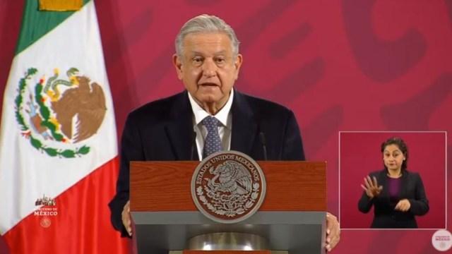El presidente de México, Andrés Manuel López Obrador, en su conferencia mañanera