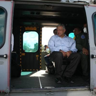 AMLO visita zona de Peñitas en Tabasco; anuncia acciones para evitar nuevas inundaciones