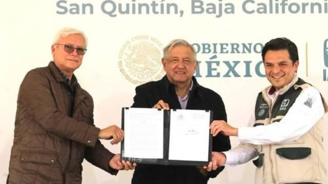 El presidente López Obrador inauguró este sábado un hospital en San Quintín, Baja California