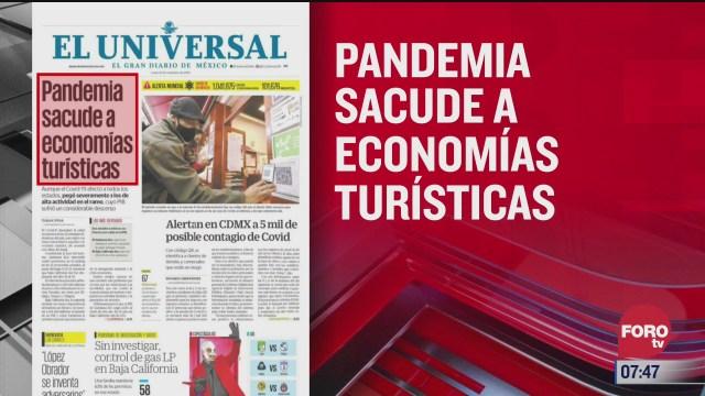 analisis de las portadas nacionales e internacionales del 23 de noviembre del