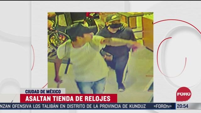 asaltan tienda de relojes en cdmx