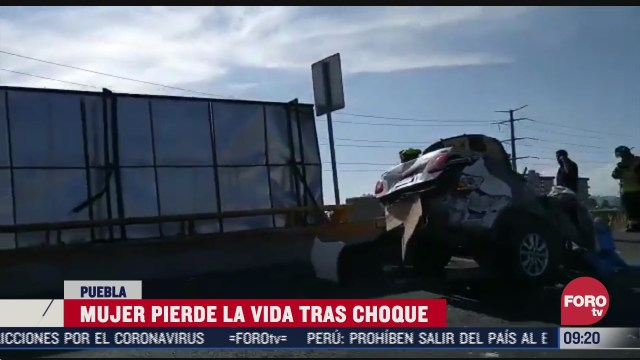 automovil se parte en dos sobre avenida periferico ecologico en cholula puebla