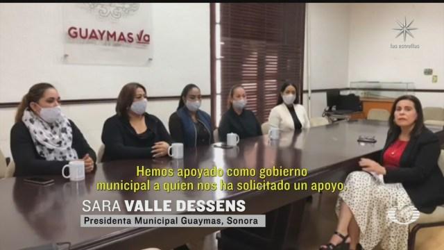 autoridades de guaymas sonora aclaran donacion de palas y cubetas a mujeres buscadoras