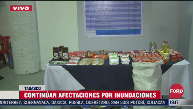 autoridades de tabasco acondicionan almacenes para preparar despensas