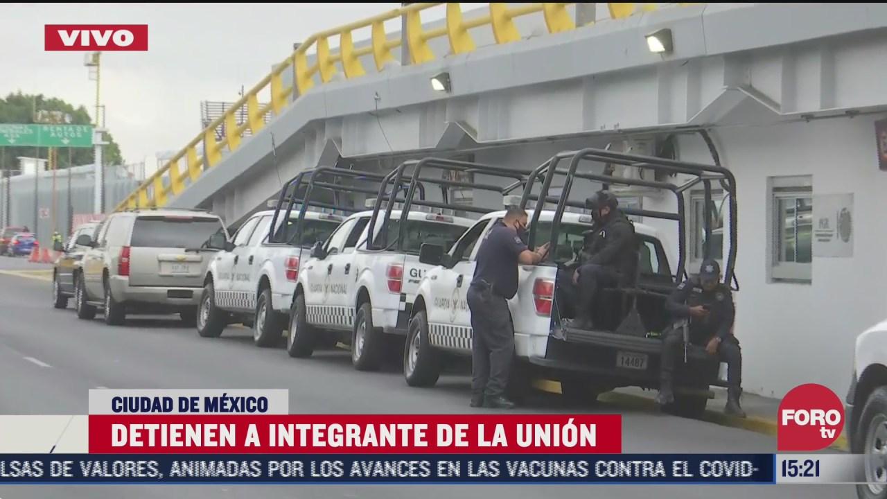 autoridades refuerzan seguridad ante detencion de miembro de la union