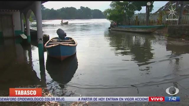 baja nivel del agua en zonas inundadas de tabasco
