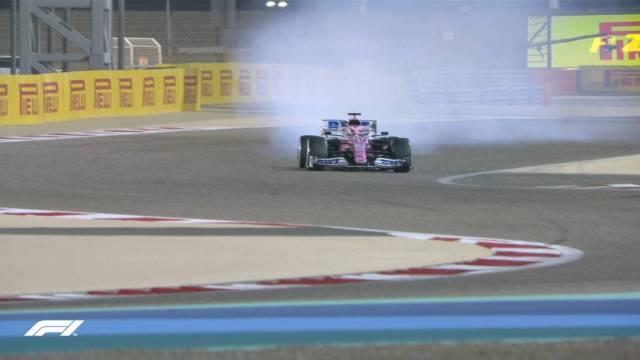El monoplaza del mexicano Sergio 'Checo' Pérez se incendió brevemente a tres vueltas de terminar el Gran Premio de Baréin