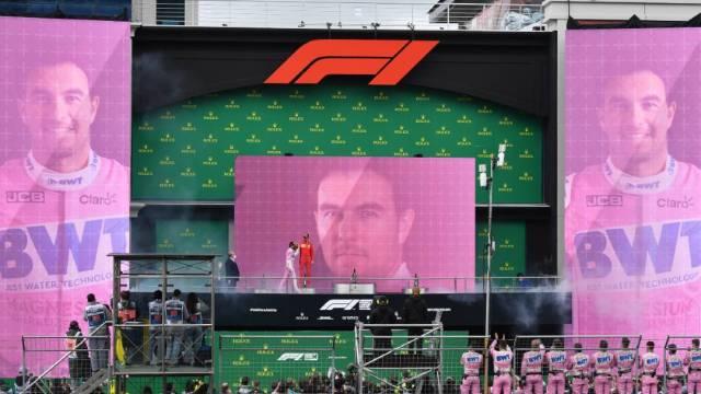 El mexicano Sergio 'Checo' Pérez firmó este domingo el mejor resultado en la historia de Racing Point