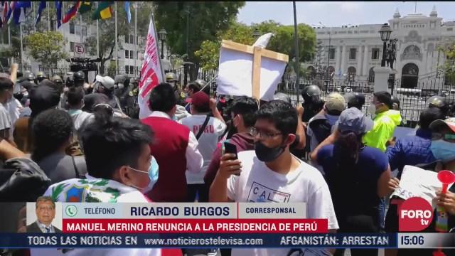 cidh pide esclarecer desapariciones tras protestas en peru