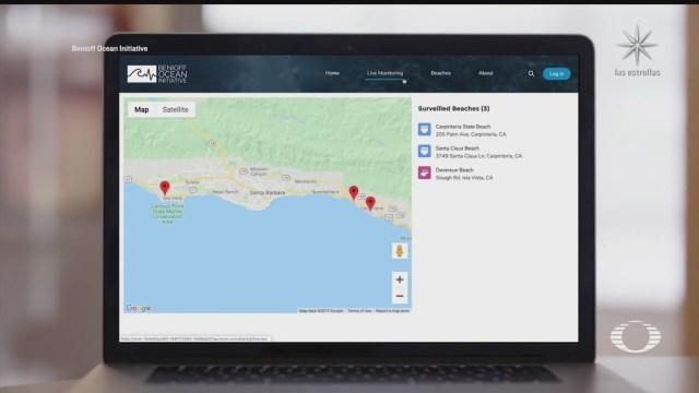 cientificos monitorean con drones a tiburones blancos en playas de california