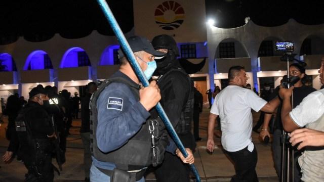 ¿Cómo ocurrieron las agresiones a balazos durante la protesta feminista de Cancún?