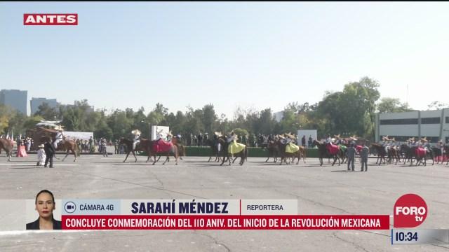 concluye conmemoracion del 110 aniversario de la revolucion mexicana