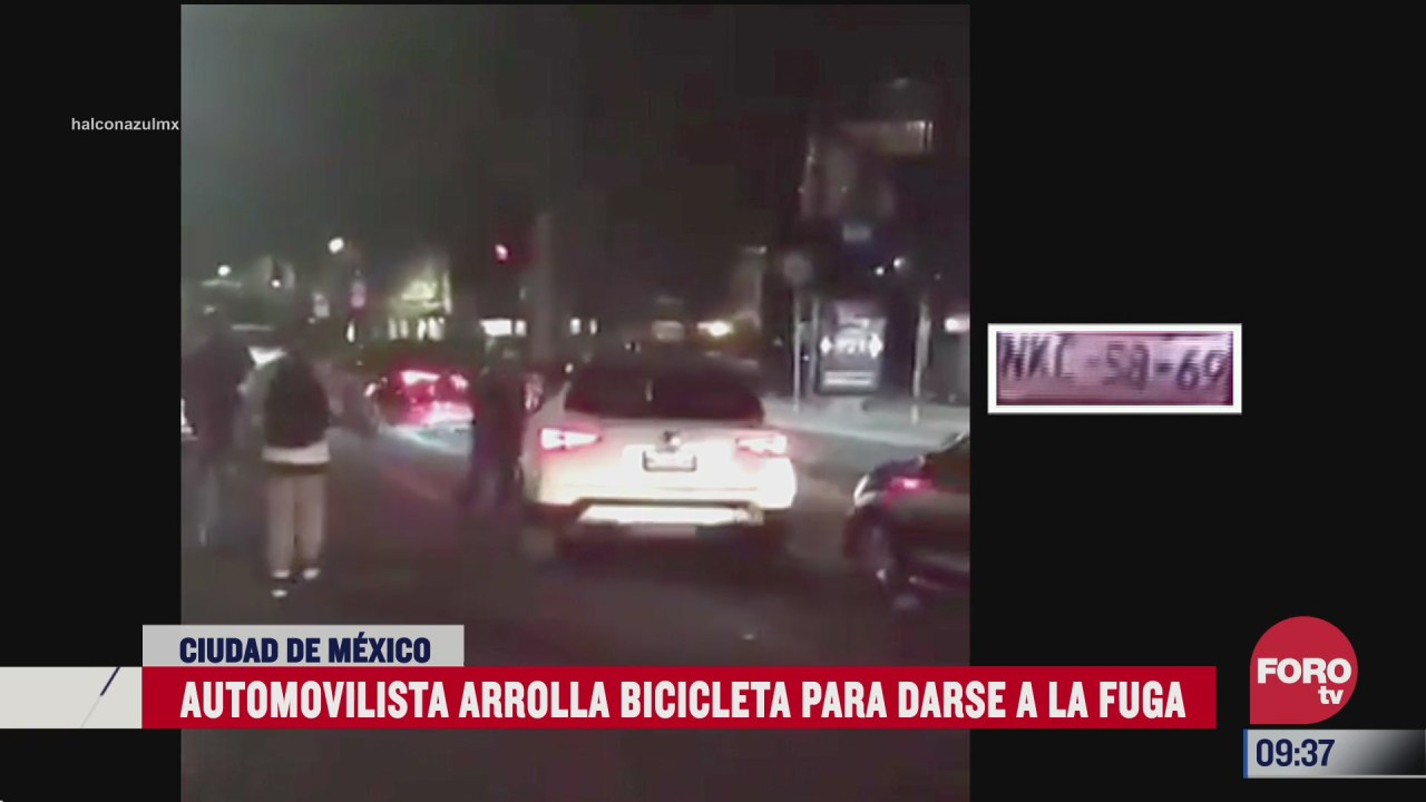 conductor de camioneta arrolla bicicleta para darse a la fuga