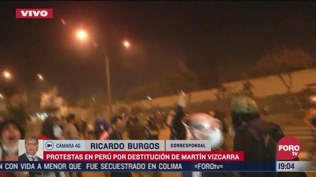 continuan protestas en peru tras destitucion de martin vizcarra