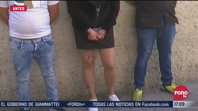 detienen a presuntos extorsionadores en el centro de la ciudad de mexico