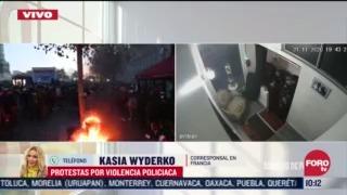 enfrentamientos en francia durante protesta contra proyecto de ley sobre seguridad