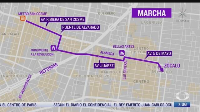 esta sera la ruta de la marcha feminista de este miercoles en cdmx