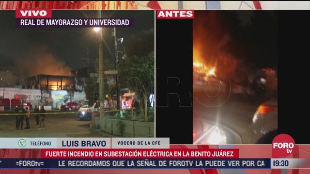 explosion de transformador provoco incendio en subestacion coyoacan cfe