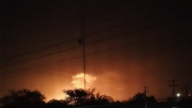 Explosión en gasoducto de Pemex