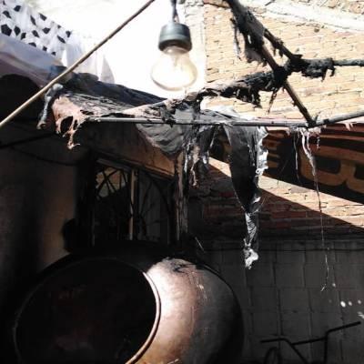 Explosión por acumulación de gas e incendio deja dos lesionados en Tlaquepaque, Jalisco