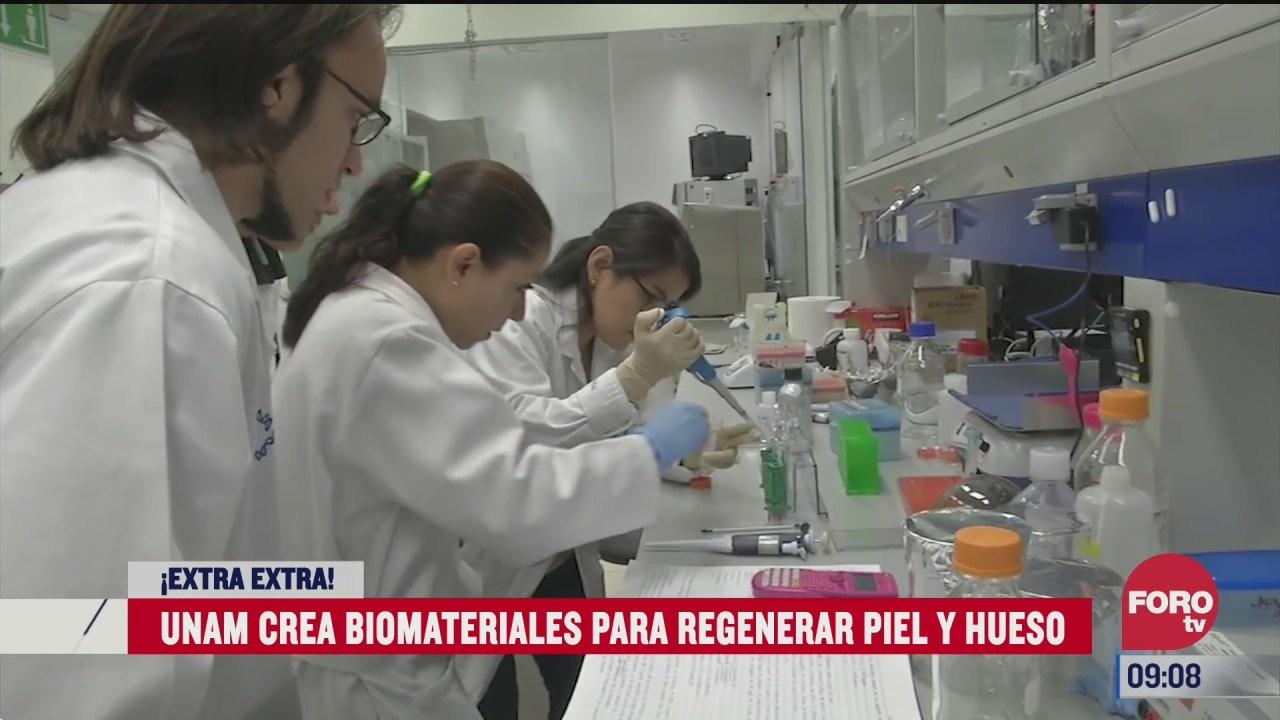 extra extra unam crea biomateriales para regenerar piel y huesos