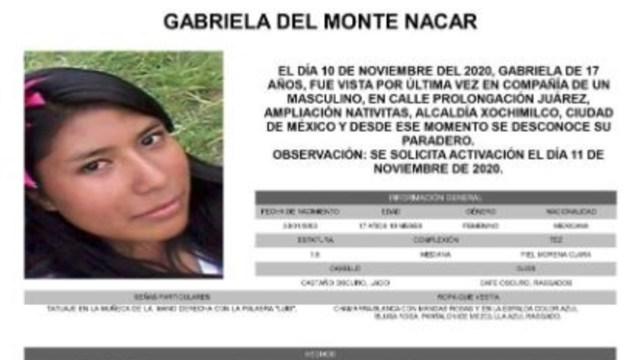 Activan Alerta Amber para localizar a Gabriela Del Monte Nacar