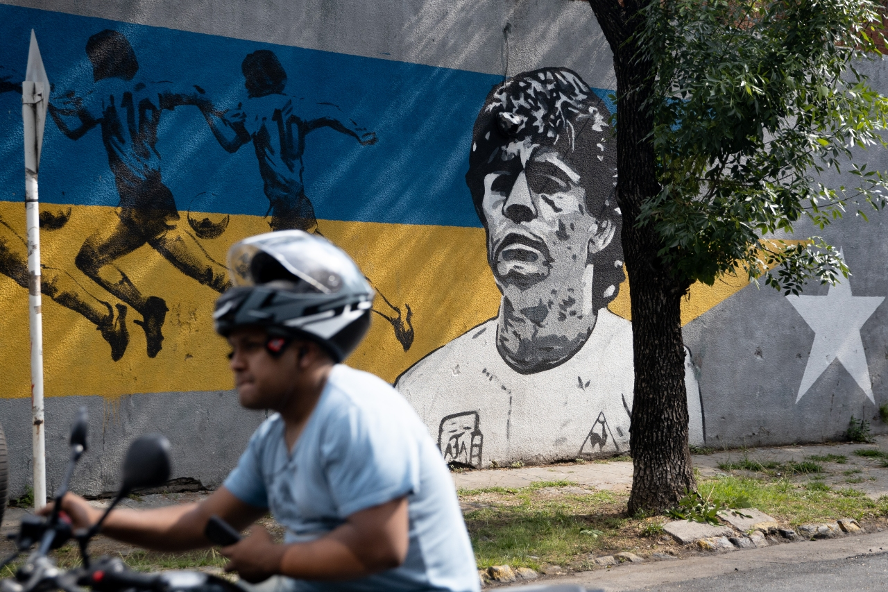 Grafitti de Maradona Boca Juniors